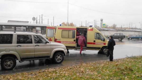 сбили пешехода на Можайского в Вологде 29.09 (3)