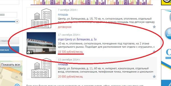 Стоимость аренды павильона на Вологодском городском рынке