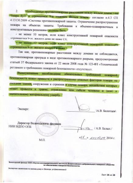 Пожарная экспертиза по Шекснинской (26)