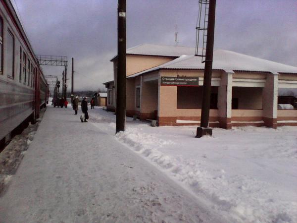 Последняя электричка в Вожегу. станция Семигородняя