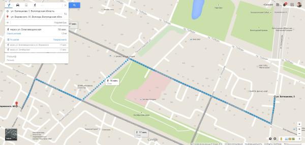 Как добраться с городского рынка на Воровского 66