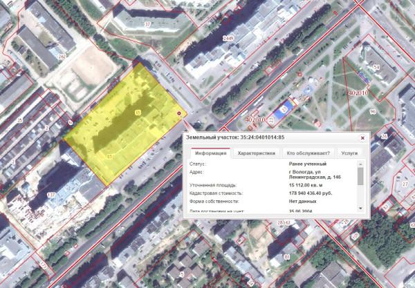 Земельный участок под домом Ленинградская 146