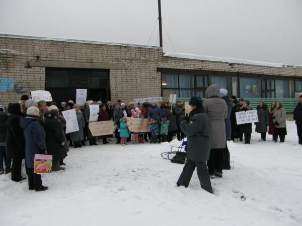 Пикет в Семигородней за возвращение электричек 5