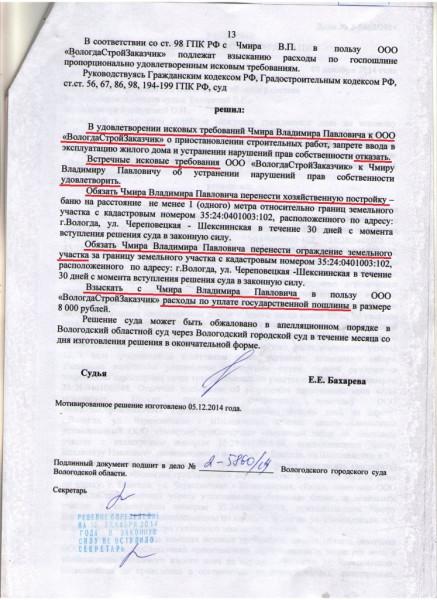Решение Горсуда по В.П. Чмиру (14)