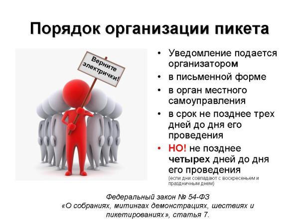 Правила организации массового пикета