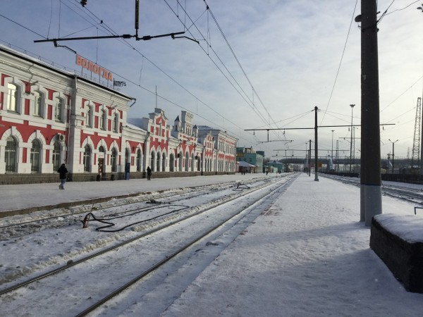 Вологда. Железнодорожный вокзал 5 февраля 2015 года (3)