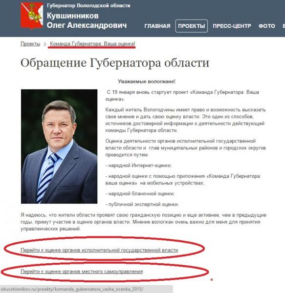 Команда губернатора Кувшинникова. Ваша оценка 2014