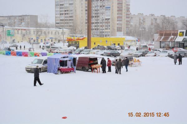 Ярмарка в Череповце на площади Химиков 15.02.2015