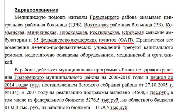 Сокращение больниц Грязовецкого района