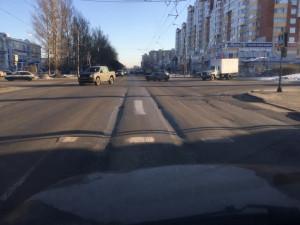 Колейность на Ленинградской у Золотого ключика