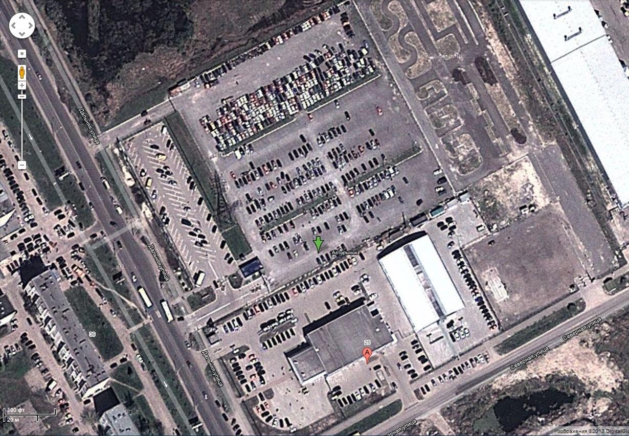 штрафстоянка на Северной 25 на картах Гугл