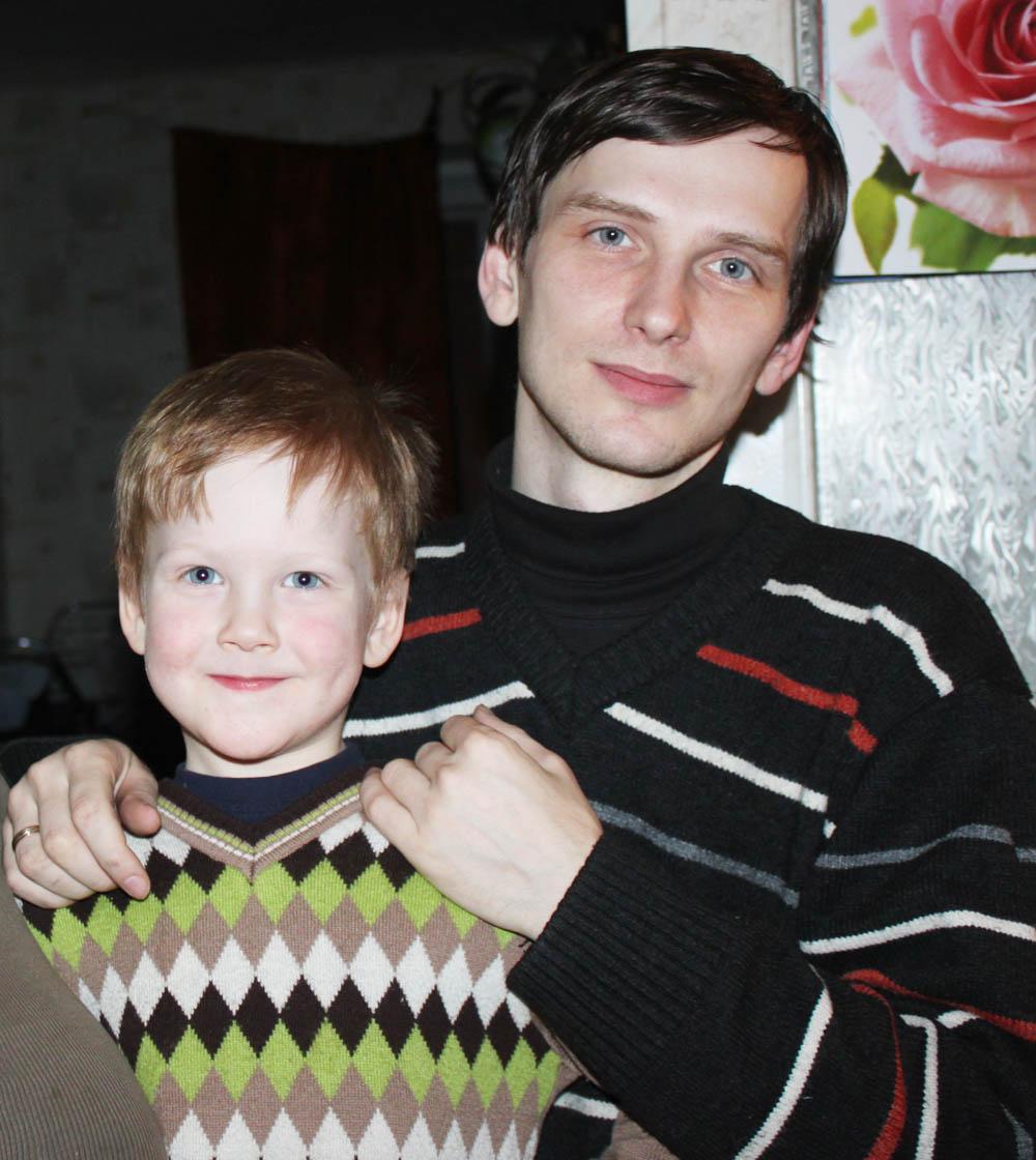 Анатолий Грязнов с сыном Алексеем