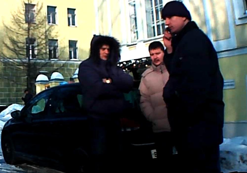 ЦПЭшники Гуляев, Полянкий на площади Революции 16 февраля 2013 года