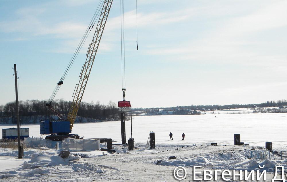 Строительство незаконного причала в Горицах Кирилловского района Вологодской области