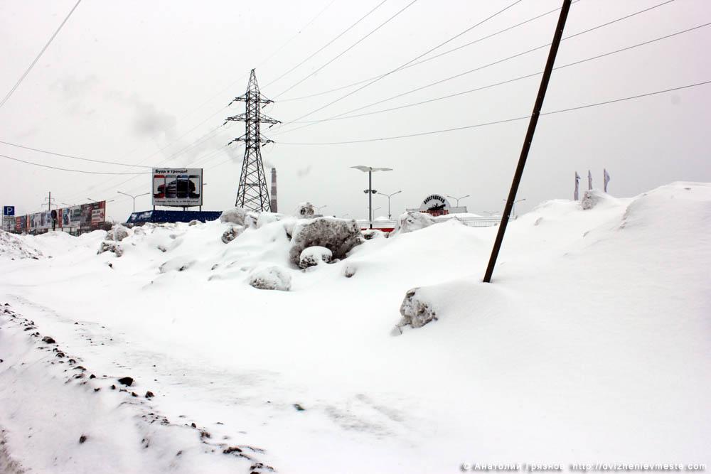 Снег на улицах Вологды на 20 марта 2013 года (30)