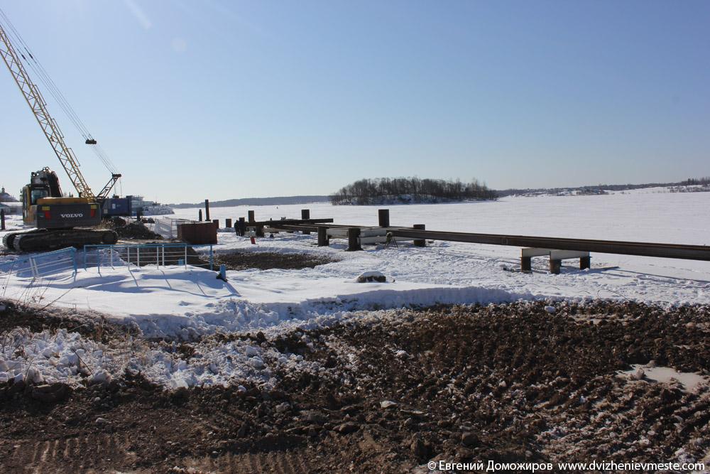 Кирилловский район Горицы, незаконная стройка причала (34)