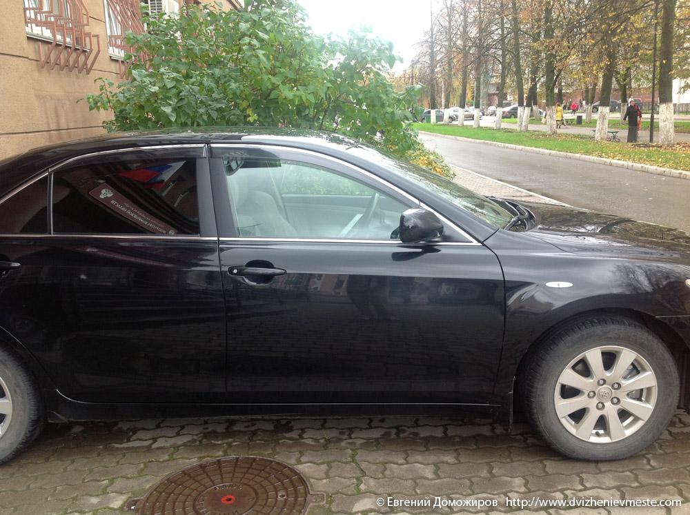 Автомобиль прокурора Хлопушина со снятой тонировкой