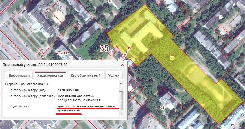Соседний, школьный участок с Тендрякова 46А в ПКК для многоэтажной застройки