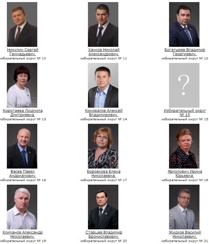 Вологодская городская Дума. Депутаты 2