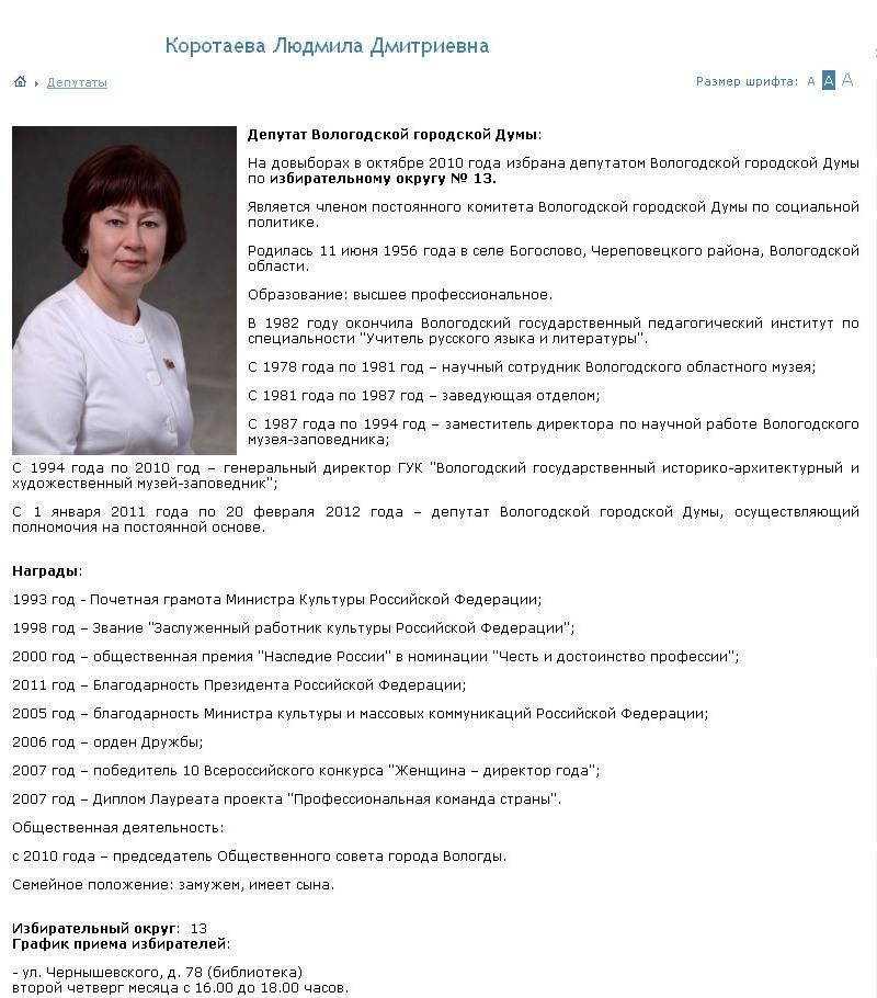 Коротаева Людмила Дмитриевна