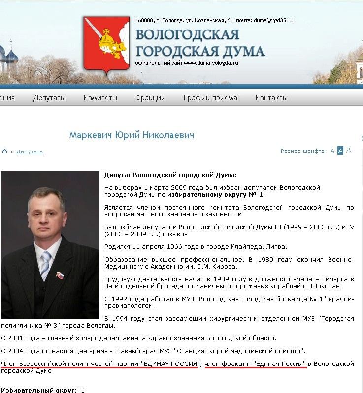 Маркевич Юрий Николаевич