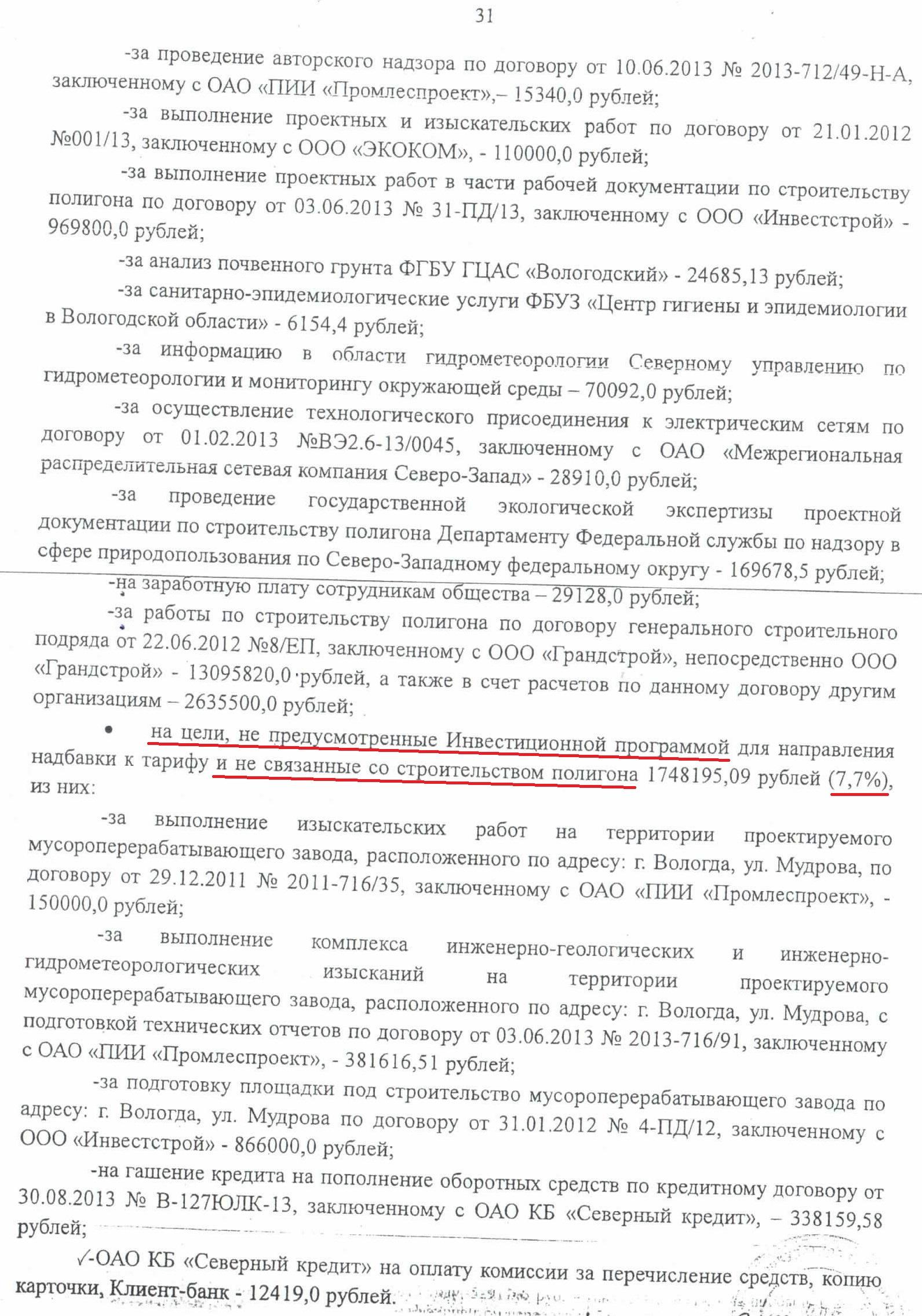 Акт проверки КСП по полигону ТБО стр.31 нецелевое расходование средств