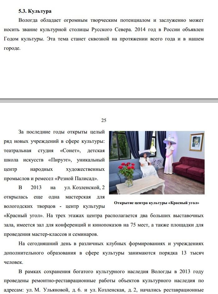 Публичный доклад Евгения Шулепова за 2013 год. Культура