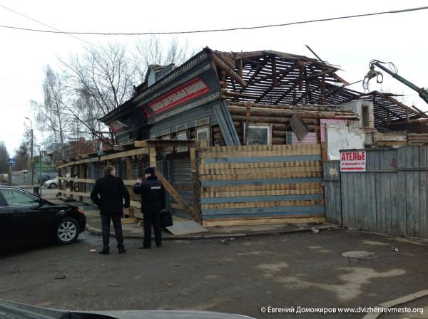 Вологда культурная столица Русского севера. Снос дома на  улице Воровского (7)