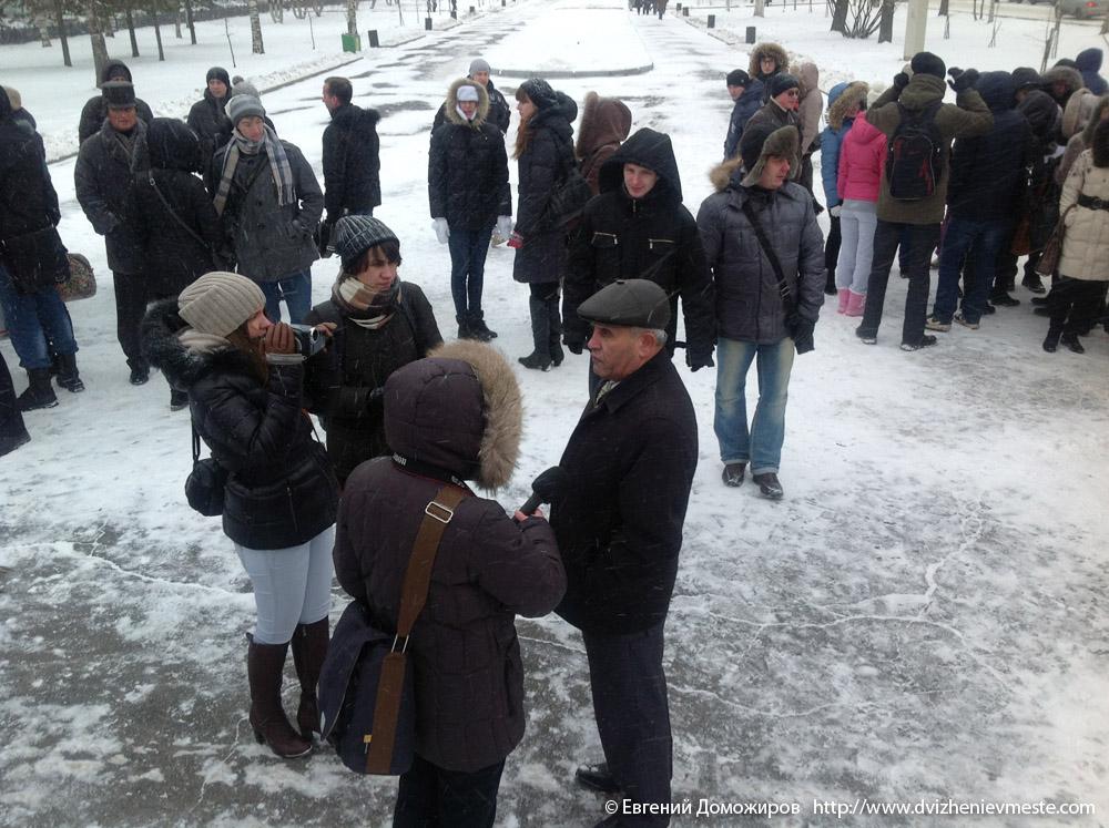 Кишиев Борис Куламович на пикете