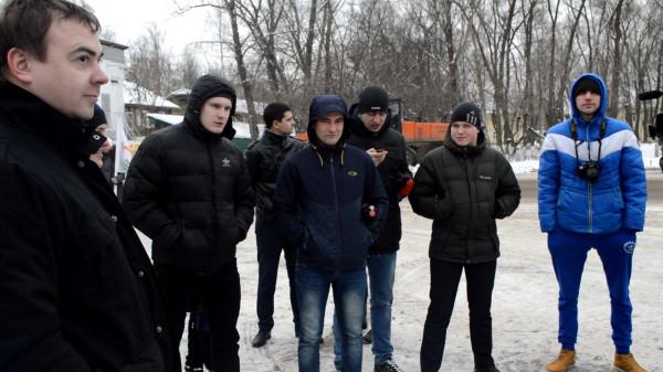 Вологодские титушки на встрече с Митрохиным