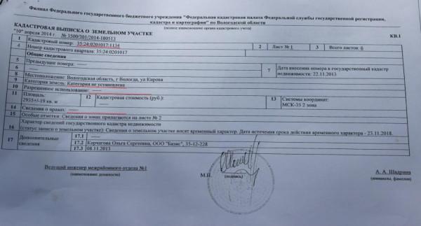 Кадастровый план участока на Кирова вблизи дома 76 (1)