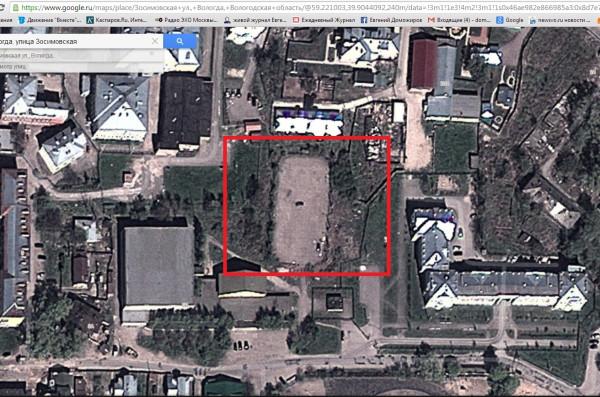 Бывший хоккейный корт Политеха на улице  Зосимовской