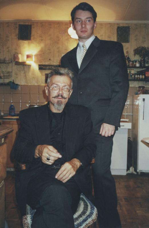 2000 год. Калошин переулок. Попытка сделать фото 'под старину'