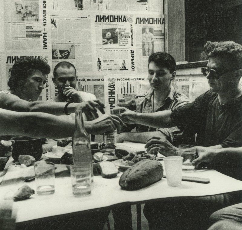 1995 год, Редакция Лимонки. Михаил Хорс, Федор Провоторов, Даниил Дубшин, Эдуард Лимонов