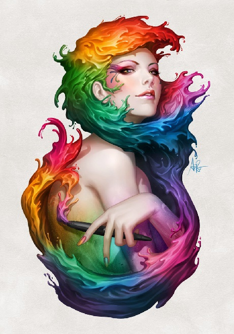 art-красивые-картинки-Angel-of-Colors-stanley-lau-826907