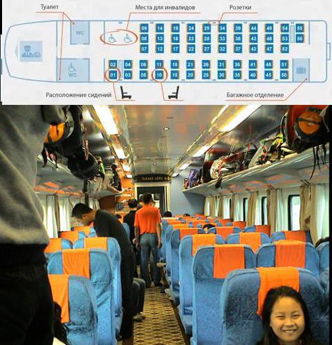 сидячий вагон 56 мест схема