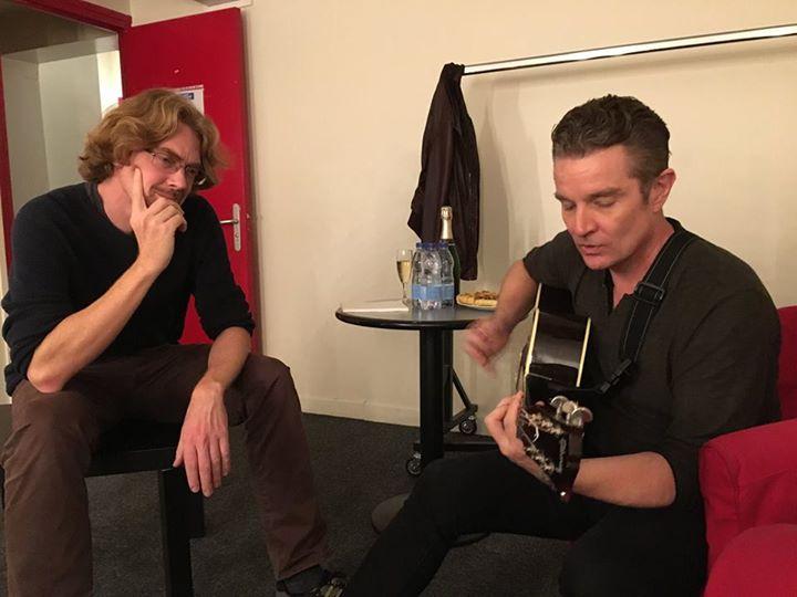 james marsters & jesper kyd backstage at les grand rex in paris