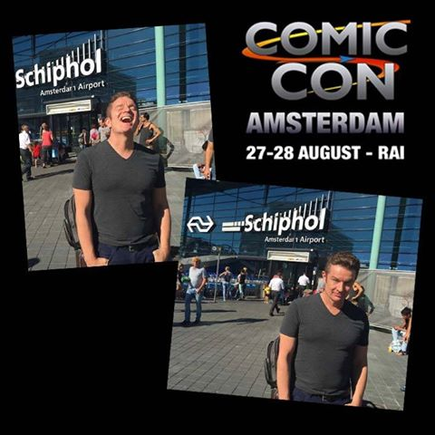 James Marsters arriving in Amsterdam 2016-08-25
