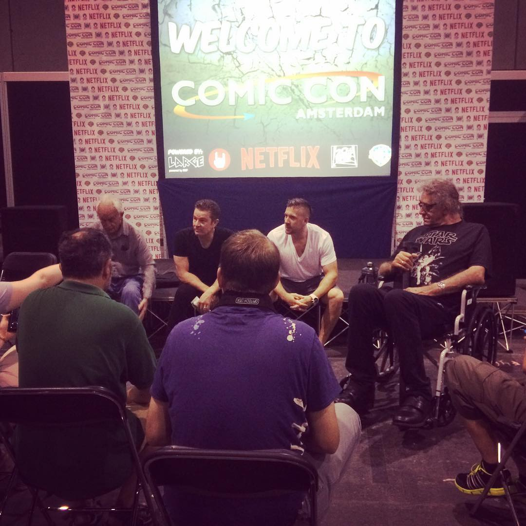 James Marsters, Lance Henriksen, Ray Park & Peter Mayhew at Amsterdam Comic Con