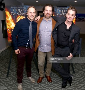 Maclain Nelson, Adam Johnson, & James Marsters Dragon Warriors Premiere