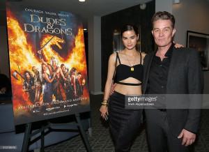 James & Jasmin Marsters Dudes & Dragons Premiere 29/02/16