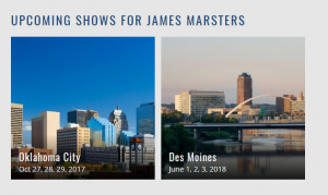 JM WizardWorld Upcoming Shows