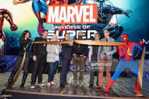 James Marsters, G. Willow Wilson, Pete Rock, Chief Curator Ben Saunders, & Curator Brooks Peck at MoPOP Marvel Opening Ceremony in Seattle