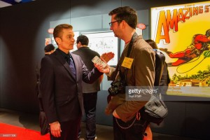 James Marsters & reporter at MoPOP Marvel Opening Ceremony in Seattle
