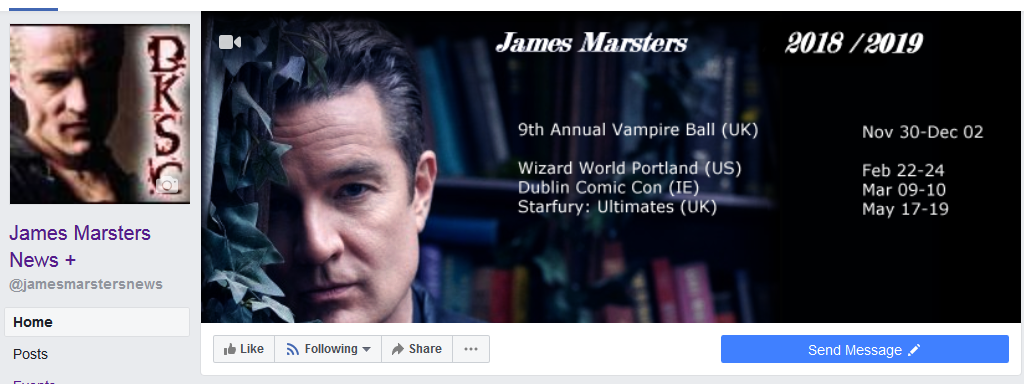 James Marsters News + Facebook Page