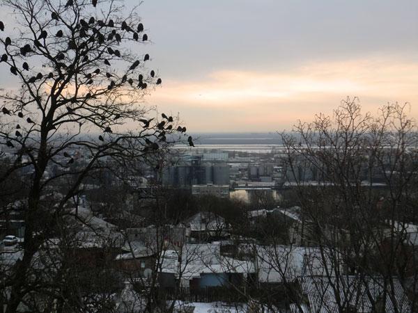 Ростов зимой - вид через Дон на юг