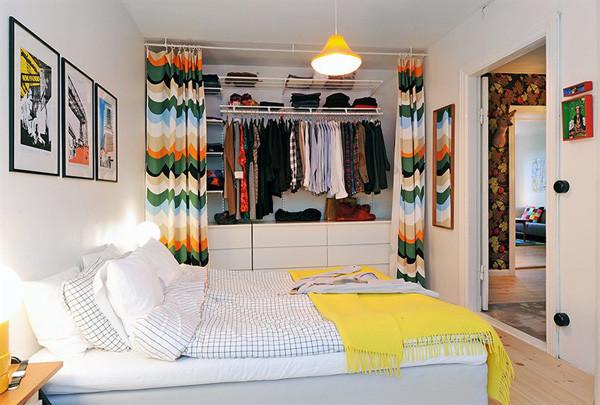 используем шторки вместо дверей в шкафу Dorianru Livejournal