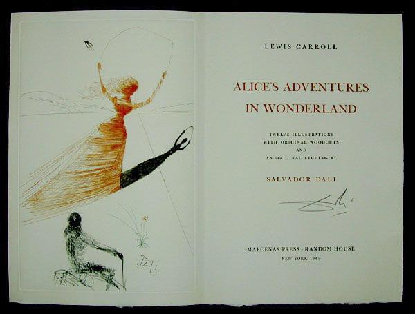 Ilustraciones de Dalí para Alicia en el pais..