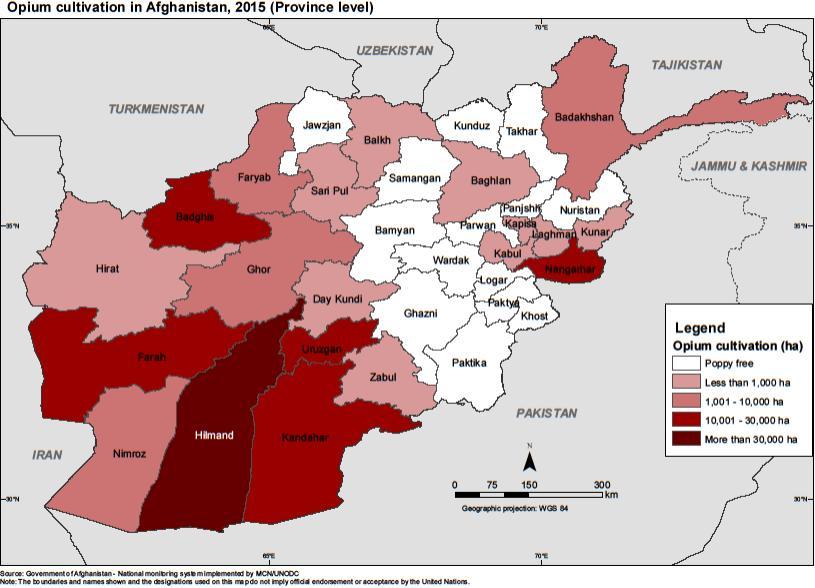 Культивация опийного мака в Афганистане по регионам [2]