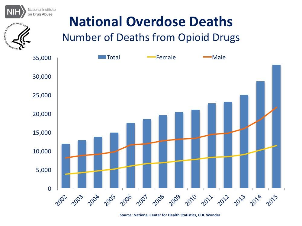 сша Смертельные исходы от передозировок наркотиками опиоидной группы (героин, рецептурные опиоидные анальгетики и др.): 2015 г. - 33 091, + 15,5%.